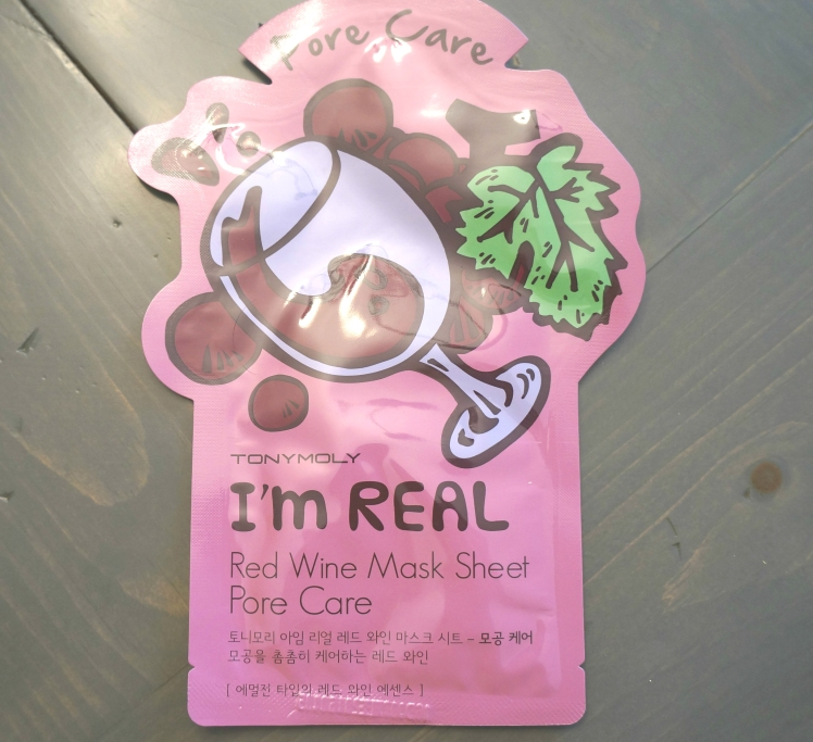 Tony Moly I'm Real Red Wine Mask Sheet Pore Care
